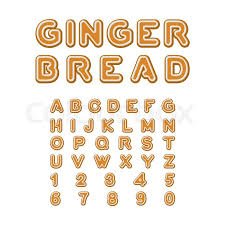 gingerbread font christmas cookie alphabet mint cookies abc