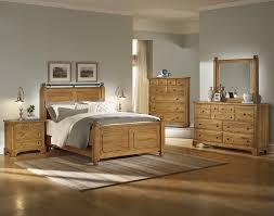 Pine Bed Set Cosy Light Wood Bedroom Furniture Set On In 3 Bedroom Interior