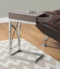 monarch specialties accent table accent table chrome metal dark taupe w drawer monarch