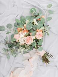 wedding flowers eucalyptus picture of eucalyptus and colored roses wedding bouquet