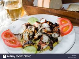 Octopus Home Greece Greek Food Octopus Restaurant Taverna Grilled Marinated