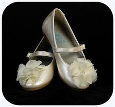 infant u0026 toddler girls ivory dress shoes flats w fabric flower