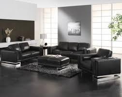 modern home interior design living room ideas with black sofa
