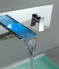 indoor wall mounted ls chrome finish single handle wall mount waterfall bathtub faucet
