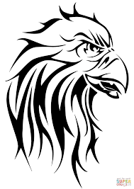 eagle head tattoo coloring page free printable coloring pages