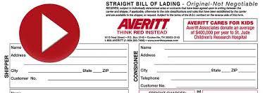 create a bill of lading averitt express