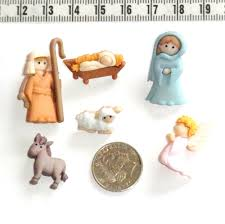 novelty christmas buttons nativity scene quilting scrapbooking