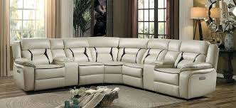 Leather Sectional Sofas Sale Beige Leather Modern Sectional Sofa Brown Sides Yi 816 Beige