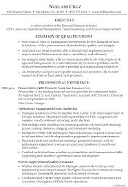 Sample Of Banking Resume by Resume For Senior Position In Financial Services Susan Ireland