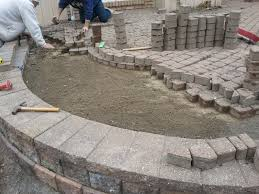 Paver Designs For Patios by Exterior How To Lay Pavers With Stone Flooring And Plants Also