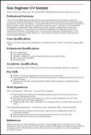 Plumber Resume Sample by Gas Engineer Cv Sample Myperfectcv