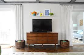 Floating Shelves For Tv by A Cheap U0026 Easy Shelf For That Blank Spot Over The Tv Young House