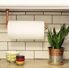 Kitchen Towel Holder Ideas Diy Under Cabinet Hanging Copper Paper Towel Holder