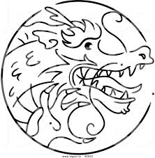 royalty free vector of a logo of a black and white chinese zodiac