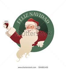 imagenes de santa claus feliz navidad santa claus holding glass wine feliz stock vector 504861493