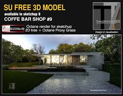 how to design a house in sketchup sketchup texture free sketchup 3d model modern coffe bar 9