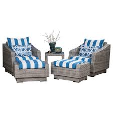Patio Chair With Ottoman Set Exterior Engaging Barrel Chair And Ottomans Set In White Printed