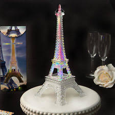 eiffel tower decorations eiffel tower centerpiece gold glitter colorful led lights table