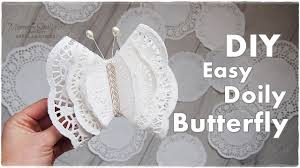 diy doily butterfly easy budget ornaments maremi s small