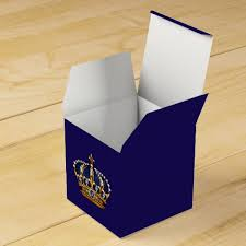 Blue Favor Boxes by Royal Blue And Gold Prince Crown Favor Box Zazzle