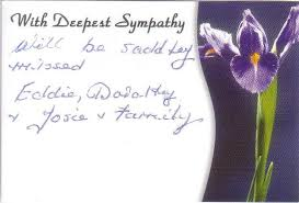 s funeral flowers and cards
