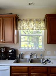 Kitchen Cabinet Valances Kitchen Charming Kitchen Window Treatment And Kitchen Decoration
