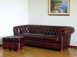 Chesterfield Leather Footstool Create Your Own Custom Model - Sofa and footstool