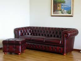 Aged Leather Sofa Sofa With Footstool Memsaheb Net