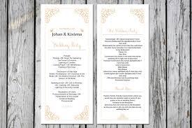 wedding ceremony program sle sle wedding program templates 28 images sale diy printable