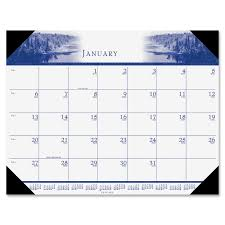 Weekly Desk Pad House Of Doolittle 140hd Recycled Illustrated Desk Pad Calendar