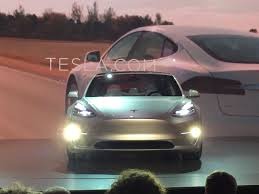 tesla unveils the model 3 its mass market electric car