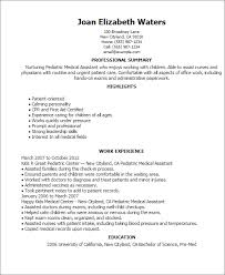 Sample Of Nursing Assistant Resume by Professional Pediatric Medical Assistant Templates To Showcase