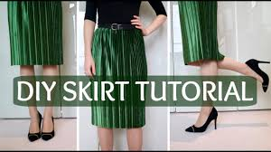 diy how to make an elastic waist skirt without a pattern youtube