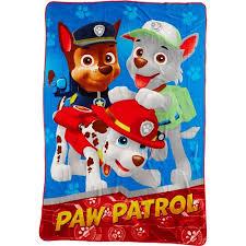 paw patrol twin blanket blue walmart