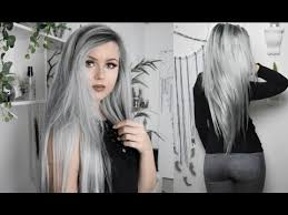 silver hair gray silver with roots hair tutorial vpfashion