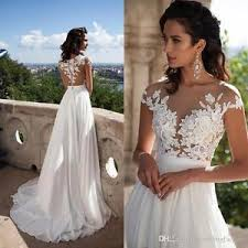 ivory lace wedding dress white ivory lace bridal summer dresses 2017 illusion