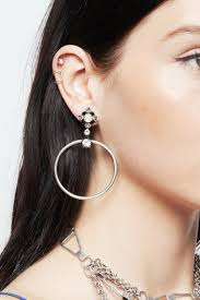 dannijo earrings dannijo rue hoop earrings from canada by era style loft shoptiques