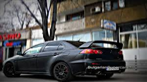 black mitsubishi lancer matte black mitsubishi lancer evo x youtube