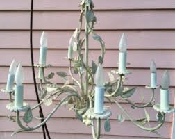 Shabby Chic White Chandelier Shabby Chic Lighting Etsy