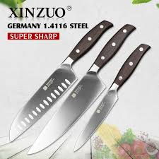 high carbon stainless steel kitchen knives xinzuo kitchen tools 3 pcs kitchen knife set utility chef knife