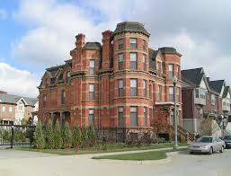 Victorian Style Mansions John Harvey House 97 Winder Street Detroit Mi Second Empire