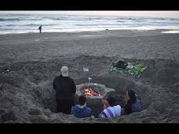 Beach Fire Pit by Digging A Custom Beach Fire Pit Youtube