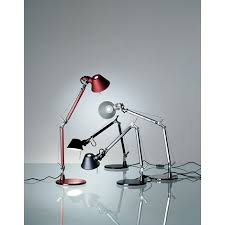 Red Desk Lamp by Tolomeo Micro Red Desk Lamp