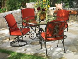 Wrought Iron Patio Tables Red Outdoor Patio Furniture Cushions Extraordinary Woodard Wrought