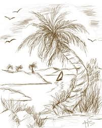 drawing a palm