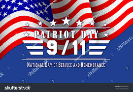 9 11 Remembrance Flag Patriot Day Background Us Flag Lettering Stock Vector 689366683