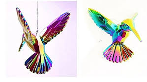 gisela graham set of 2 glass effect hummingbird stunning