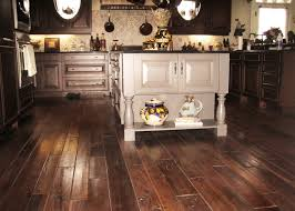 simple and neat home interior and flooring ideas with walnut wide