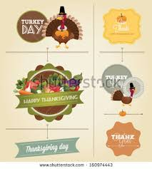 thanksgiving labels thanksgiving day harvest labels sts stock vector 160731818