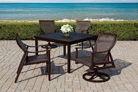 Aluminum Dining Room Chairs Cast Classics Sutton Sling Cast Aluminum Dining Cushion Set
